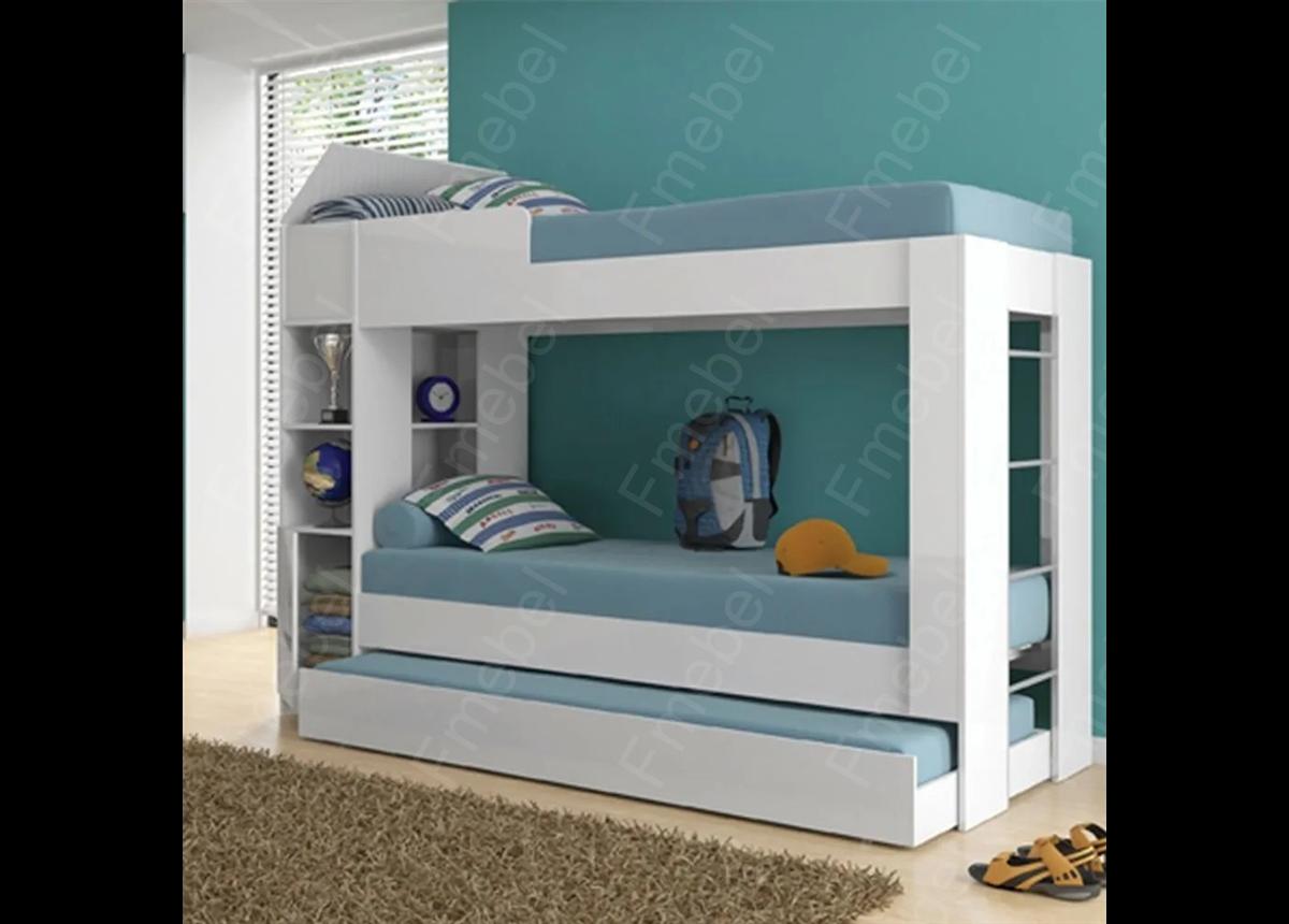 Двухъярусная кровать с дополнительным спальным местом Рочестер Fmebel 80x190