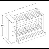 Двухъярусная кровать с дополнительным спальным местом ВКТ 12 Fmebel 80x190