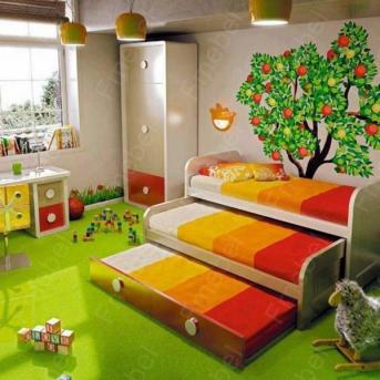 Двухъярусная кровать низкая с дополнительным спальным местом ВКТ 8 Fmebel