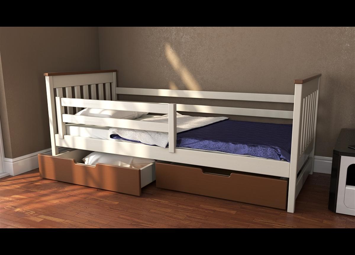 Кровать-диванчик Адель двухцветная RAL (массив) Луна 70x140