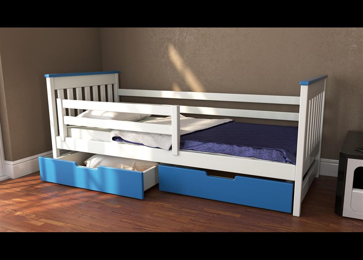 Кровать-диванчик Адель двухцветная RAL (массив) Луна 80x160