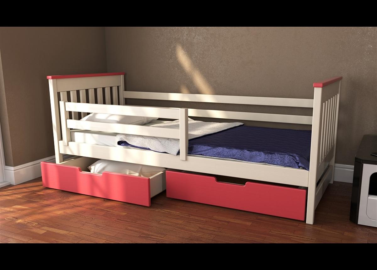 Кровать-диванчик Адель двухцветная RAL (массив) Луна 80x190/200
