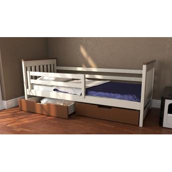 Кровать-диванчик Адель двухцветная RAL (массив) Луна 90x190/200