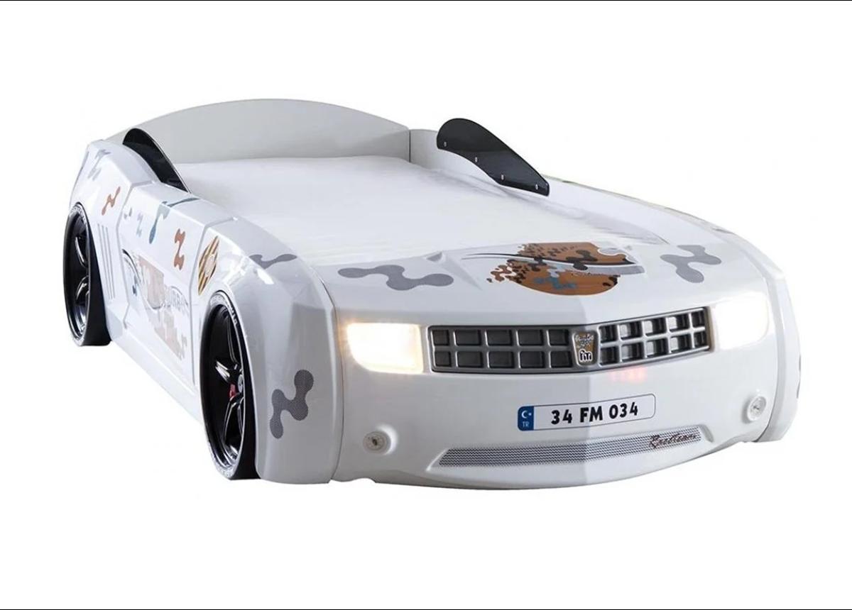 Кровать-машина Chevrolet Camaro Exit Ukraine 90х190 белый