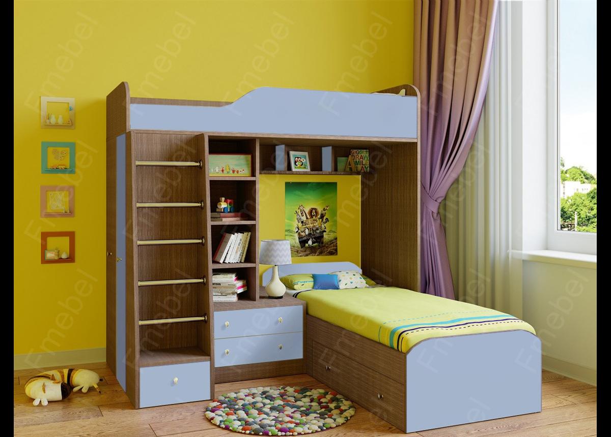 Кровать-чердак двухместная КЧД 116 Fmebel
