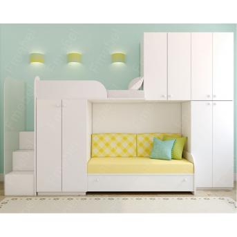 Двухъярусная кровать ДКД 88 Fmebel 80x190
