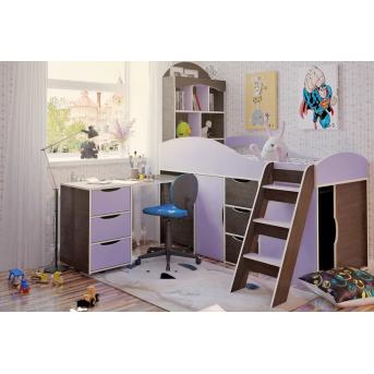 """Распродажа Кровать-чердак со столом """"2"""" 80x170 (101)"""