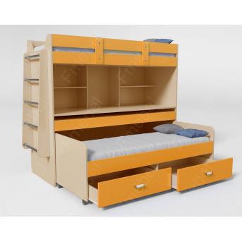 Кровать-чердак со столом Дортмунд Fmebel 70x190