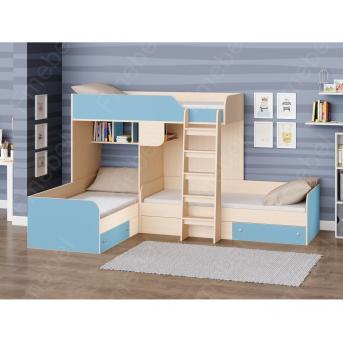 Двухъярусная трехместная кровать Луксор Fmebel 80x190