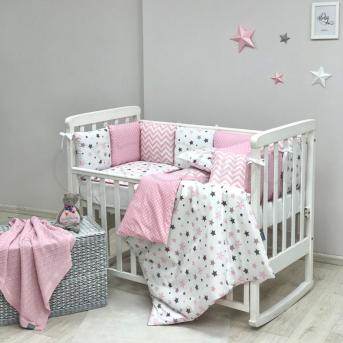 Комплект Baby Design Stars розовый (6 предметов) Маленькая Соня