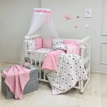 Комплект Baby Design Stars розовый (7 предметов) Маленькая Соня
