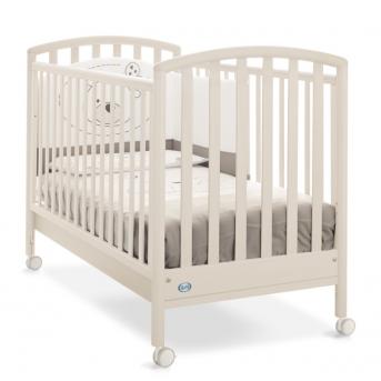 Не качающаяся кроватка для новорожденных Ciak Pali бежевый 65х125