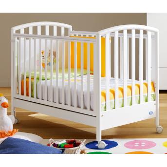 Не качающаяся кроватка для новорожденных Ciak Pali белый 65х125