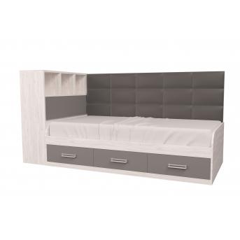 Кровать Элли с коробом для белья Аляска 90x190 MebelKon