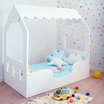 Кровать-домик с бортиком и ящиком CALIFORNIA 80x160 (102)