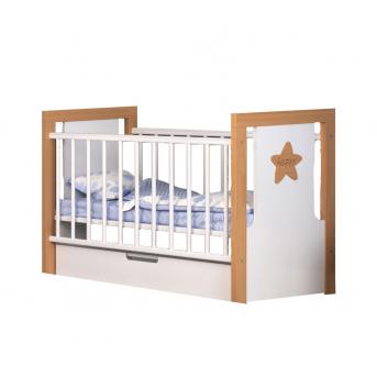 Кроватка с маятниковым механизмом и ящиком Зиронька Сиди-М 60x120