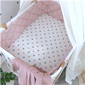 Бортики стеганые к кроватке Sleepy Мама Уложила розовый