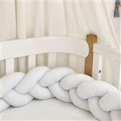 Бортики-косичка к кроватке Sleepy Мама Уложила белый