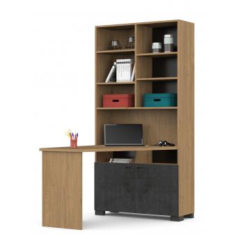 439 Письменный стол-стеллаж левый Серия Concrete Oak Meblik
