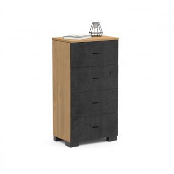 268 Комод 55 Серия Concrete Oak Meblik