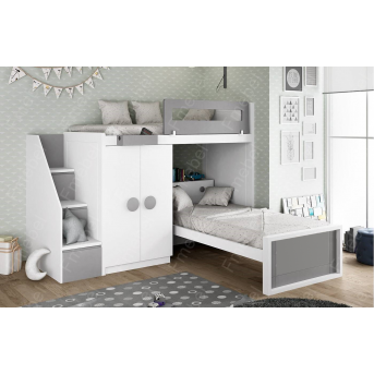Двухъярусная кровать Огайо Fmebel 80x190