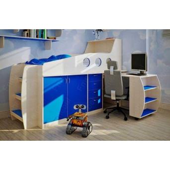 Кровать-чердак со столом Довер Fmebel 80x170
