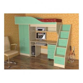 Кровать-чердак со столом Риалто Fmebel 80x190