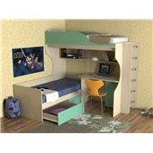 Кровать-чердак со столом Порту Fmebel 80x190