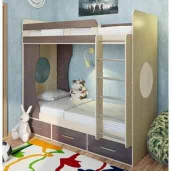Кровать-чердак со столом Клайпеда Fmebel 80x190