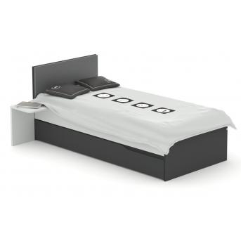 425 Кровать с мягким изголовьем Серия Gamer Meblik 90x190