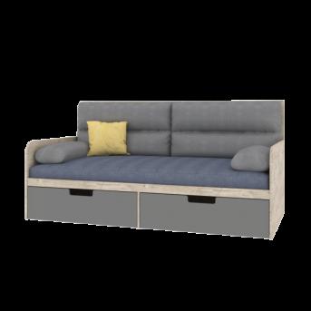 Кровать-диванчик с мягкой частью AN-L-010 Animals Эдисан 90x190