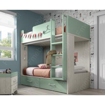 Двухъярусная кровать Квебек Fmebel 90x200