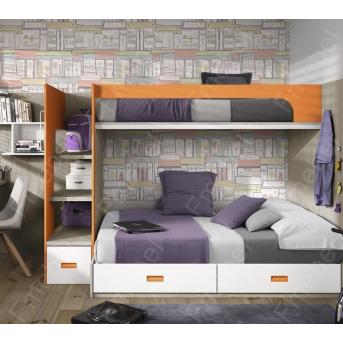 Двухъярусная кровать Аргентина Fmebel 90x200