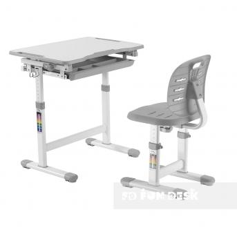 Комплект Fundesk парта + стул трансформер Piccolino III Grey FunDesk