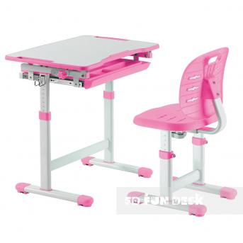 Комплект Fundesk парта + стул трансформер Piccolino III PINK FunDesk