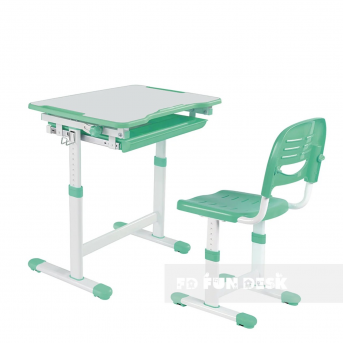 Комплект Fundesk парта + стул трансформер Piccolino Green FunDesk