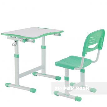 Комплект Fundesk парта + стул трансформер Piccolino II Green FunDesk