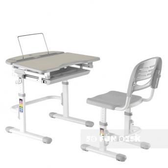 Комплект Fundesk парта + стул трансформер Sorriso Grey FunDesk