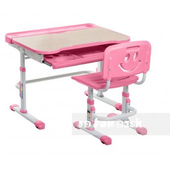 Комплект Fundesk парта + стул трансформер Bellissima pink FunDesk