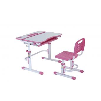 Комплект Fundesk парта + стул трансформер Botero Pink FunDesk