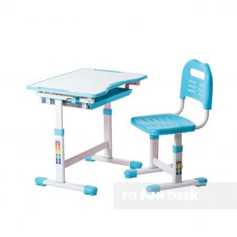 Комплект Fundesk парта + стул трансформер Sole Blue FunDesk