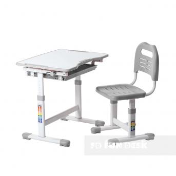Комплект Fundesk парта + стул трансформер Sole Grey FunDesk