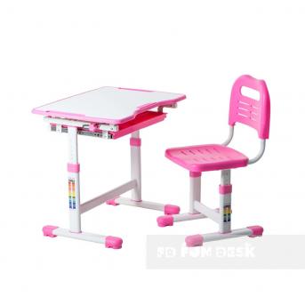 Комплект Fundesk парта + стул трансформер Sole Pink FunDesk