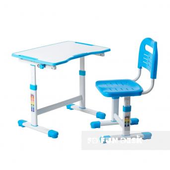 Комплект Fundesk парта + стул трансформер Sole II Blue FunDesk
