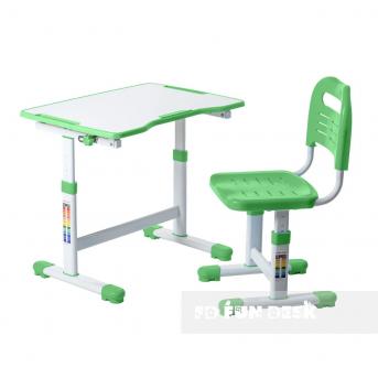 Комплект Fundesk парта + стул трансформер Sole II Green FunDesk