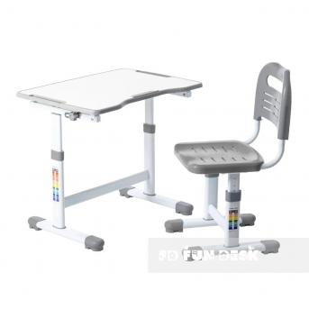 Комплект Fundesk парта + стул трансформер Sole II Grey FunDesk