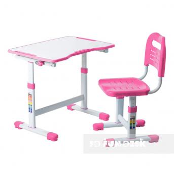 Комплект Fundesk парта + стул трансформер Sole II Pink FunDesk