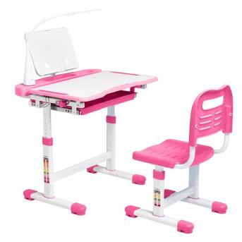 Комплект Cubby парта + стул трансформер Vanda Pink FunDesk