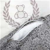 Комплект De Lux с балдахином (7 предметов) Маленькая Соня серый