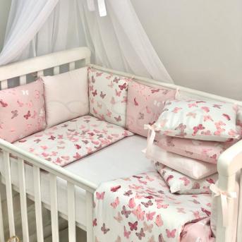 Сменные чехлы для бортиков Baby Design Бабочки Маленькая Соня